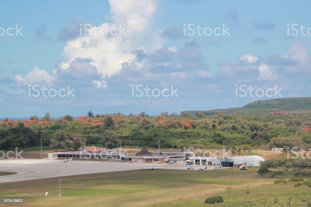 Aéroport International de Tinian, vue latérale photo libre de droits
