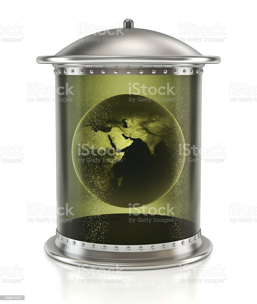 Tinned earth royalty-free stock photo