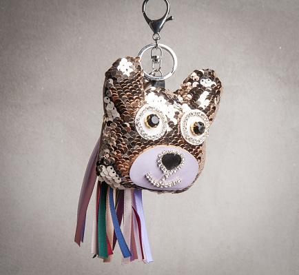 istock Tinsel kawaii dog shaped pendant for mobile phone 935774766