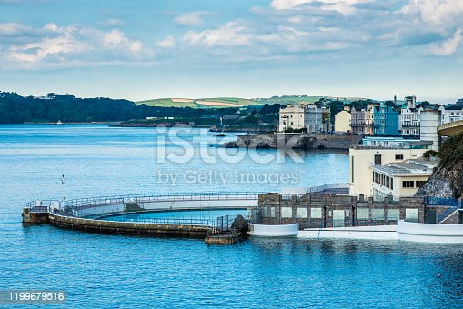 Tinside pool at Plymouth Hoe on the seafront. Devon, England. UK.
