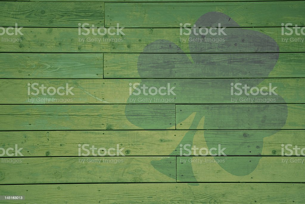 Tinted Shamrock stock photo