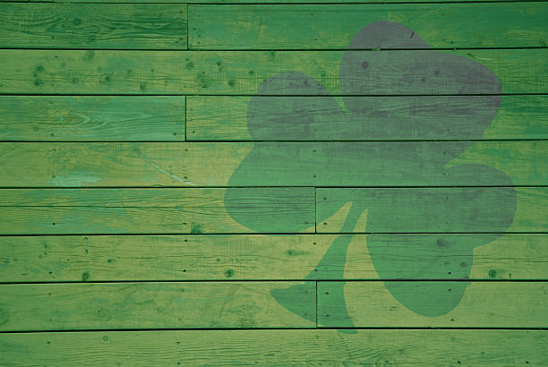 tinted shamrock - st patricks day background stock photos and pictures