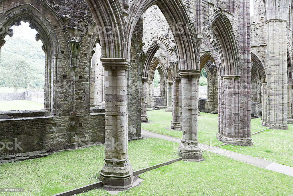 Tintern Abbey from inside stock photo