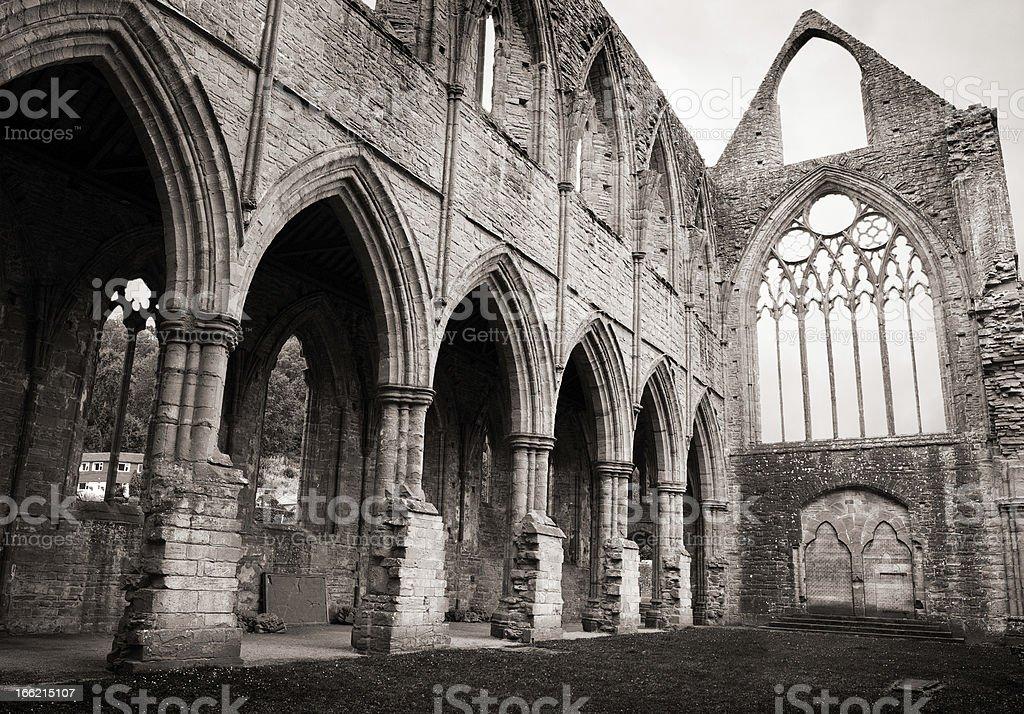 Tintern Abbey transept stock photo