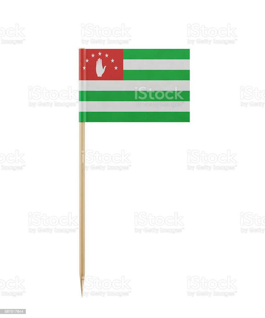 Tiny Abkhazia Flag on a Toothpick stock photo