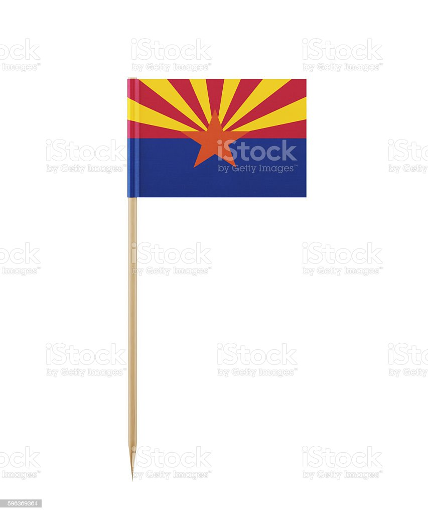 Tiny Arizona Flag on a Toothpick - foto de acervo