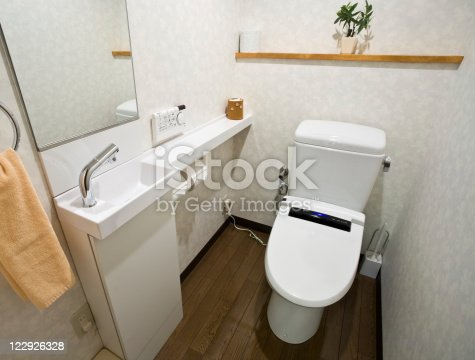 Tiny bathroom in Japan