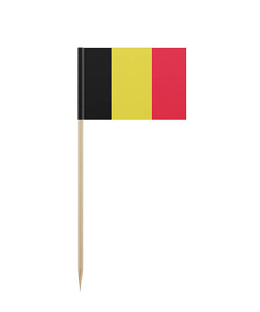 Tiny Belgium Flag on a Toothpick - Photo