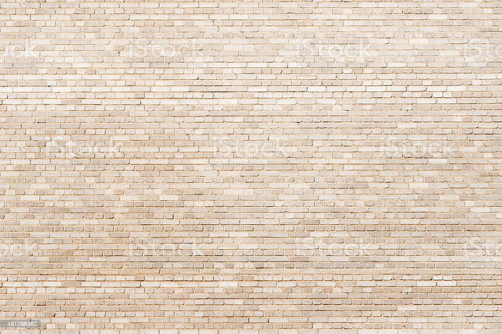 tiny brickwall  creamy texture stock photo