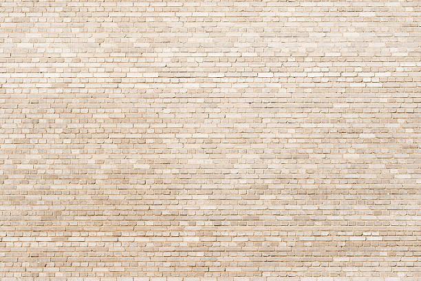 tiny brickwall  creamy texture stock photo