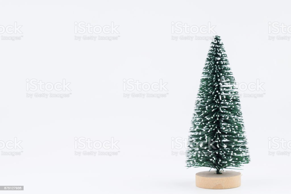 tiny christmas tree isolated on white background royalty free stock photo