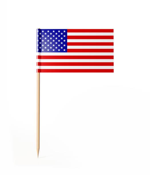 bandeira americana pequena vara cocktail - palitinho - fotografias e filmes do acervo