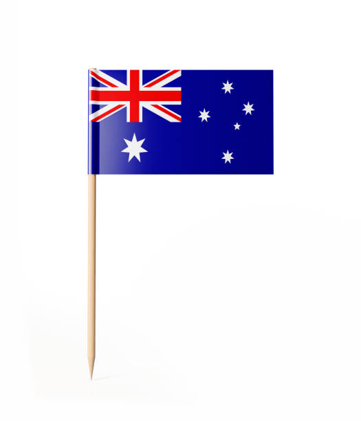 Tiny Cocktail Stick Australian Flag stock photo