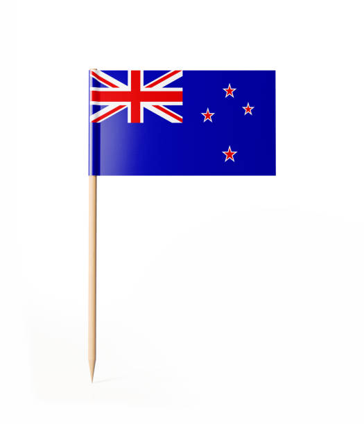 tiny cocktail stick new zealand flag - new zealand flag stock photos and pictures