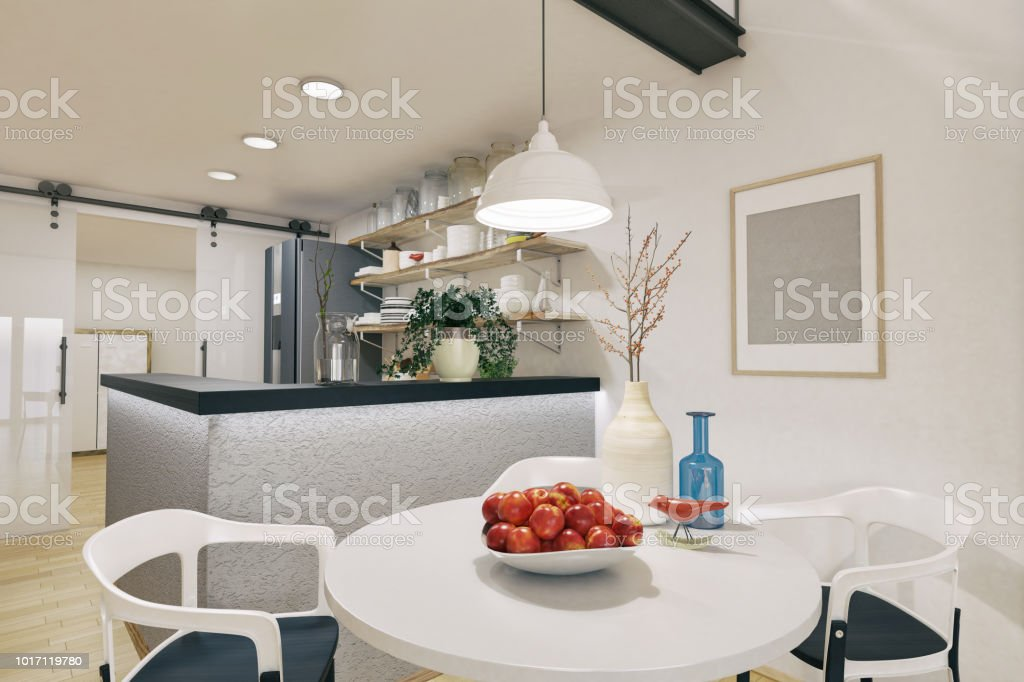 Tiny Dining Room And Kitchen Stock Photo Download Image Now Istock