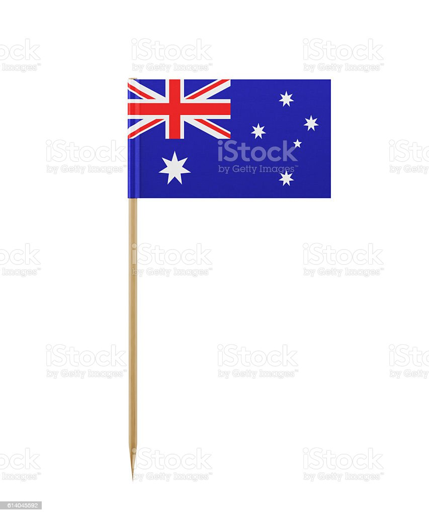 Tiny Flag of Australia on a Toothpick stock photo