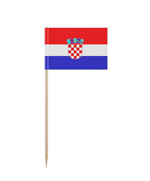 Tiny Flag of Croatia on a Toothpick - foto de stock