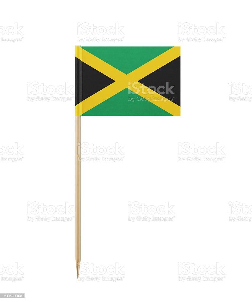 Tiny Flag of Jamaica on a Toothpick - foto de stock