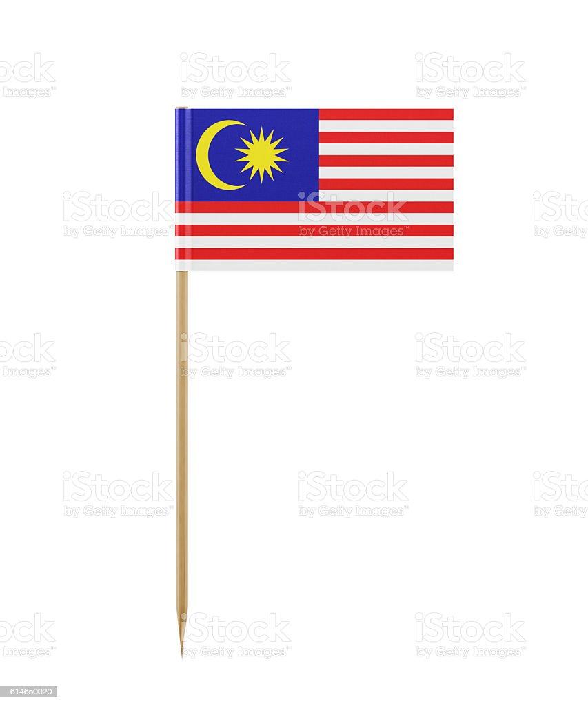 Tiny Flag of Malaysia on a Toothpick - foto de acervo
