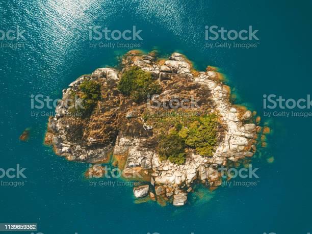Photo of tiny island in the lake malawi