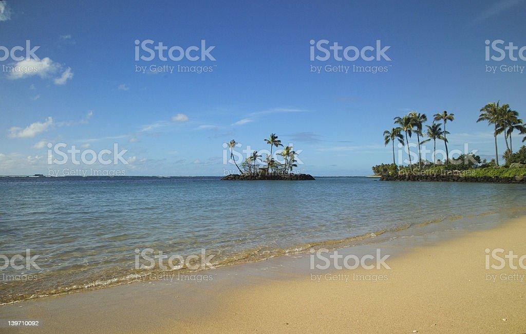 Tiny island off the beach royalty-free stock photo
