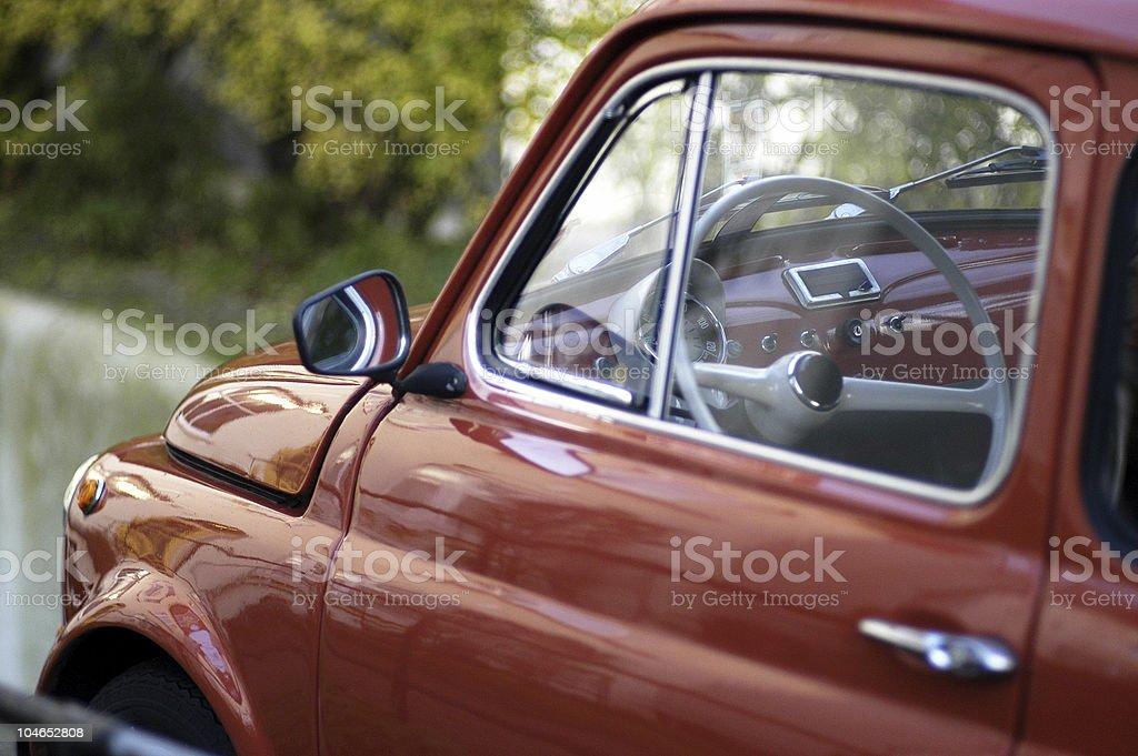 Tiny italian car stock photo