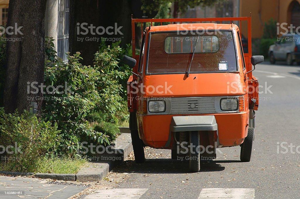 Tiny Italian Truck royalty-free stock photo