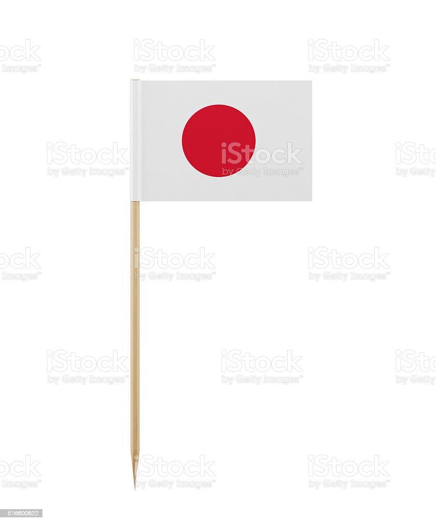 Pequena bandeira japonesa sobre um palito - foto de acervo