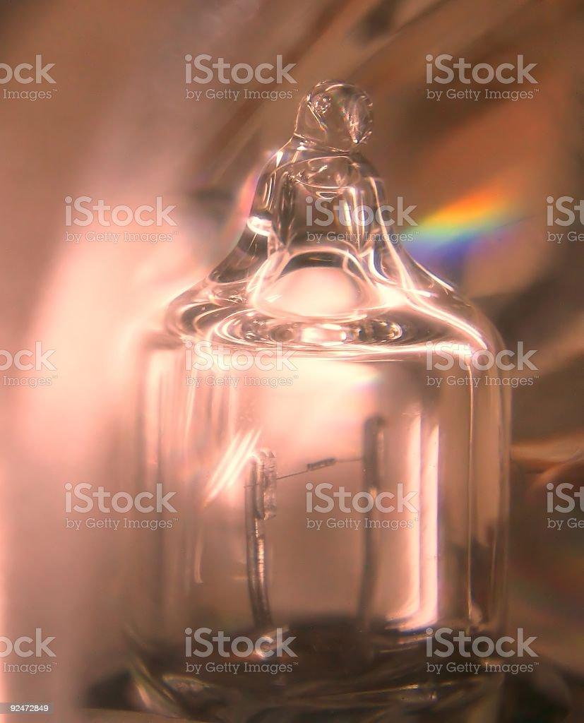 Tiny Lightbulb Magnified royalty-free stock photo
