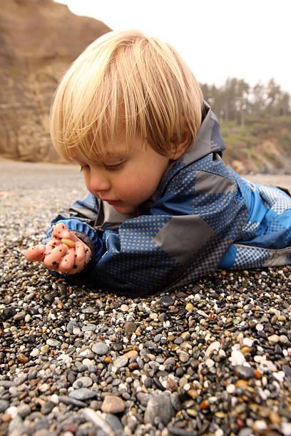 tiny pebbles stock photo