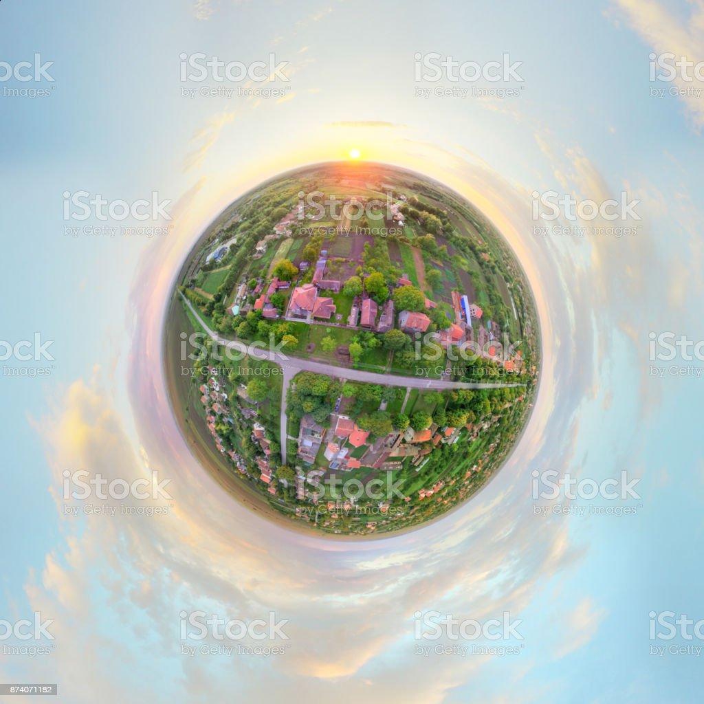 Tiny planet stock photo