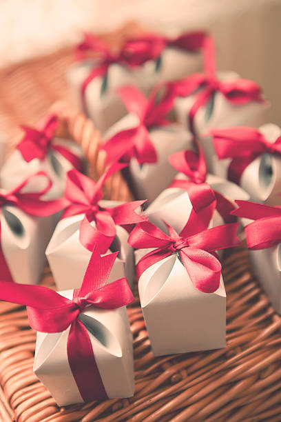 Per matrimonio o piccoli regali di Natale - foto stock