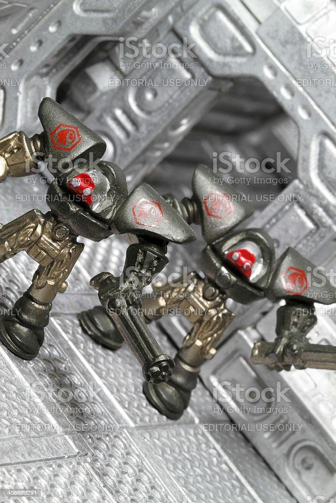Tiny Robot Attack royalty-free stock photo