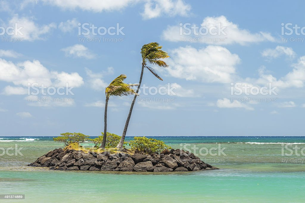 Tiny Rock Island stock photo
