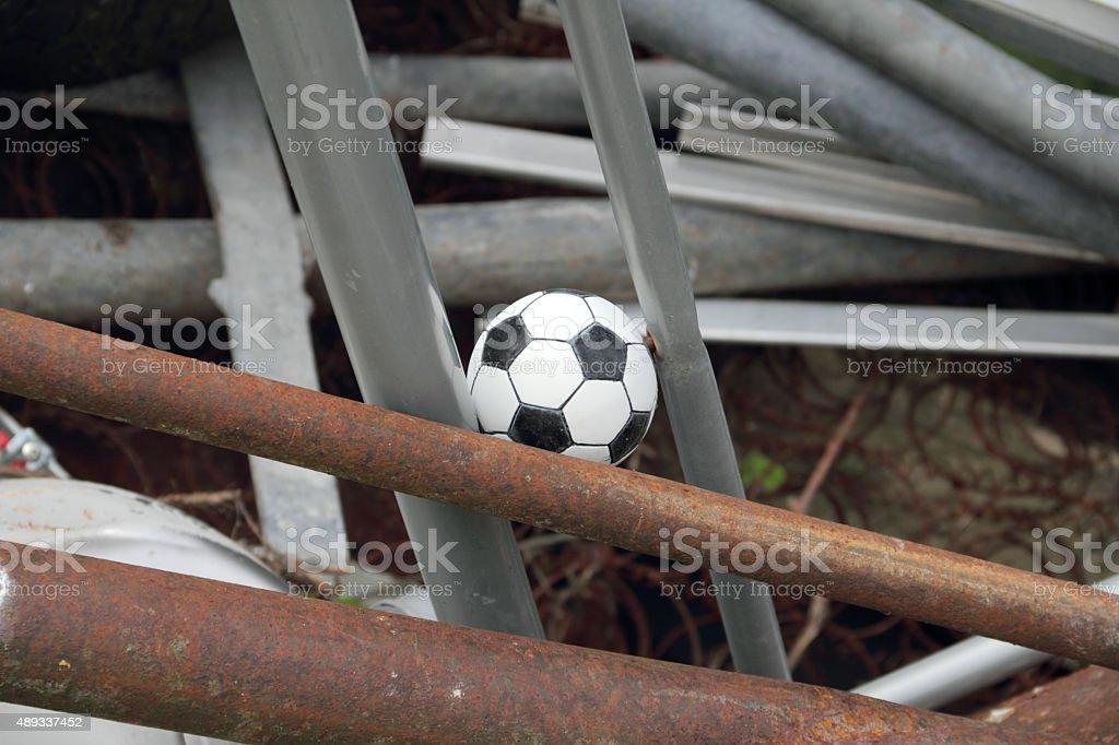 tiny soccer ball stock photo