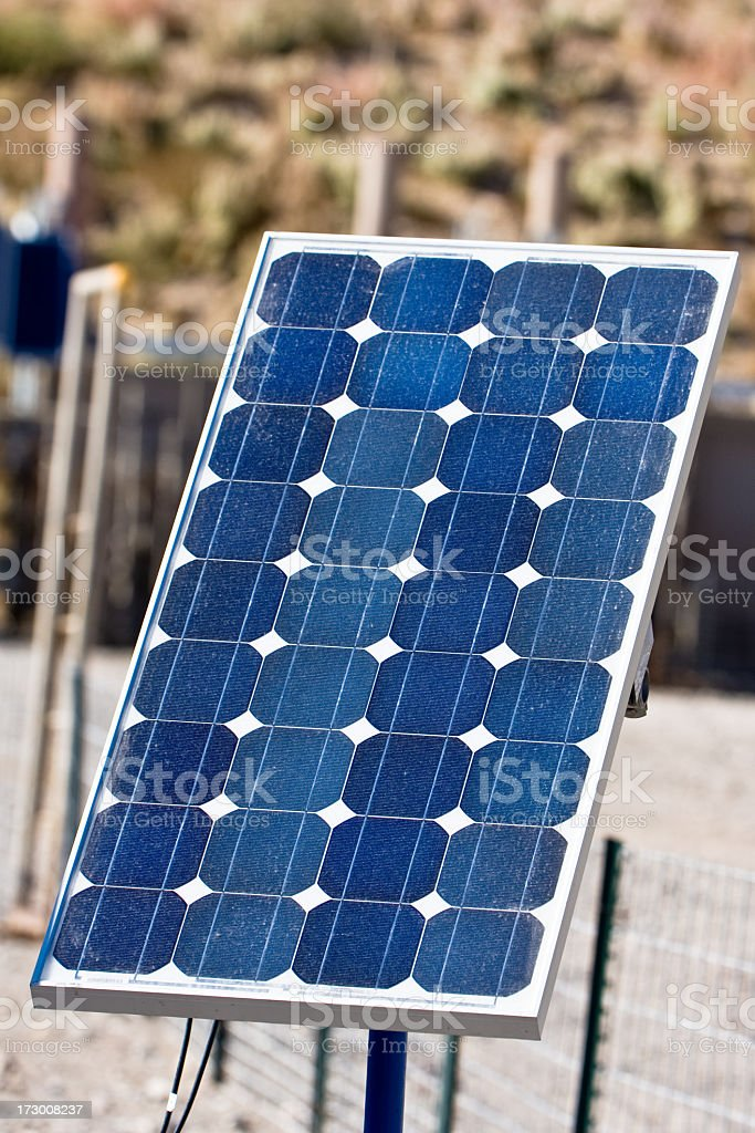 Tiny Solar Panel/Collector royalty-free stock photo