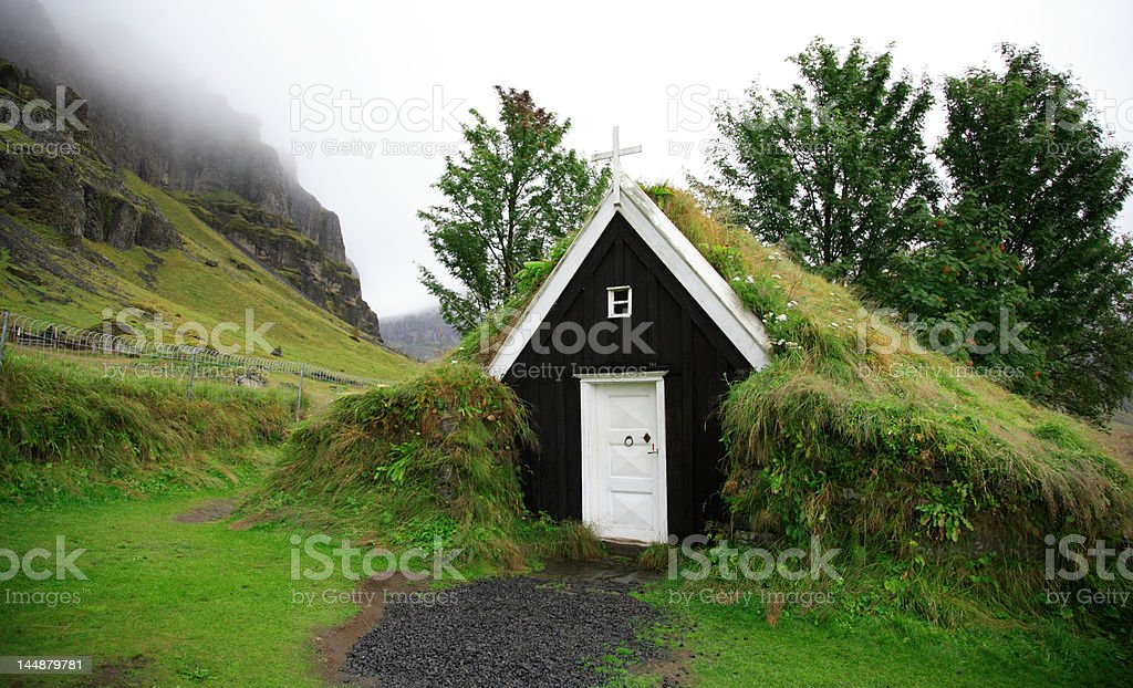 Tiny turf church royalty-free stock photo