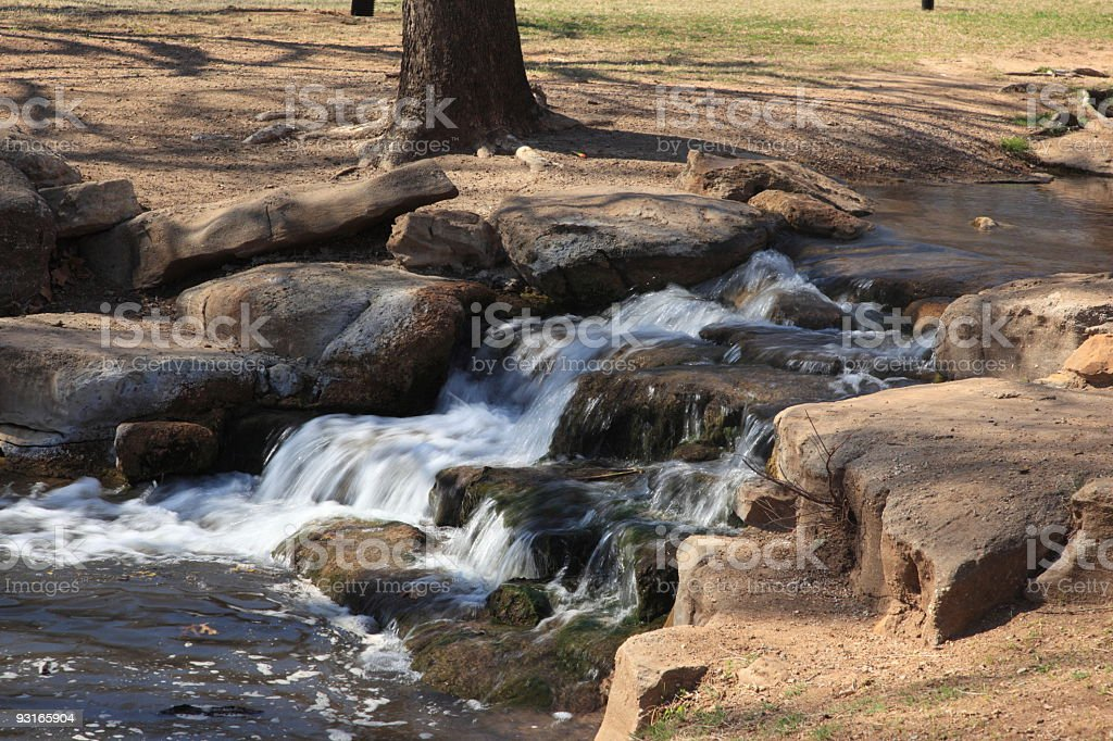 Tiny waterfall in Chicksaw Picnic Area royalty-free stock photo