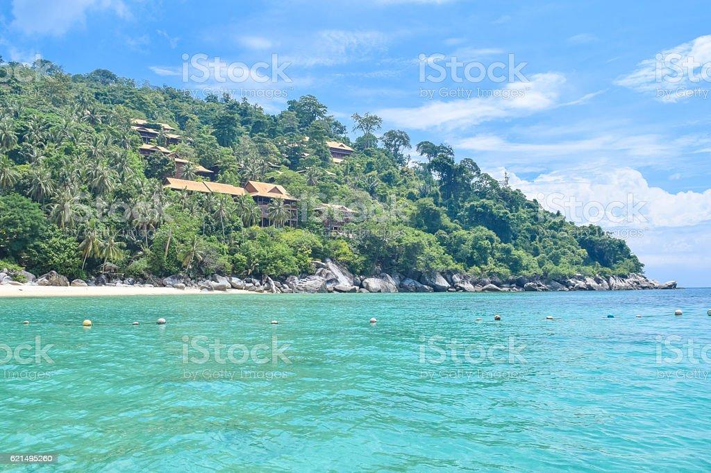 Tioman island beautiful coast under the blue sky photo libre de droits