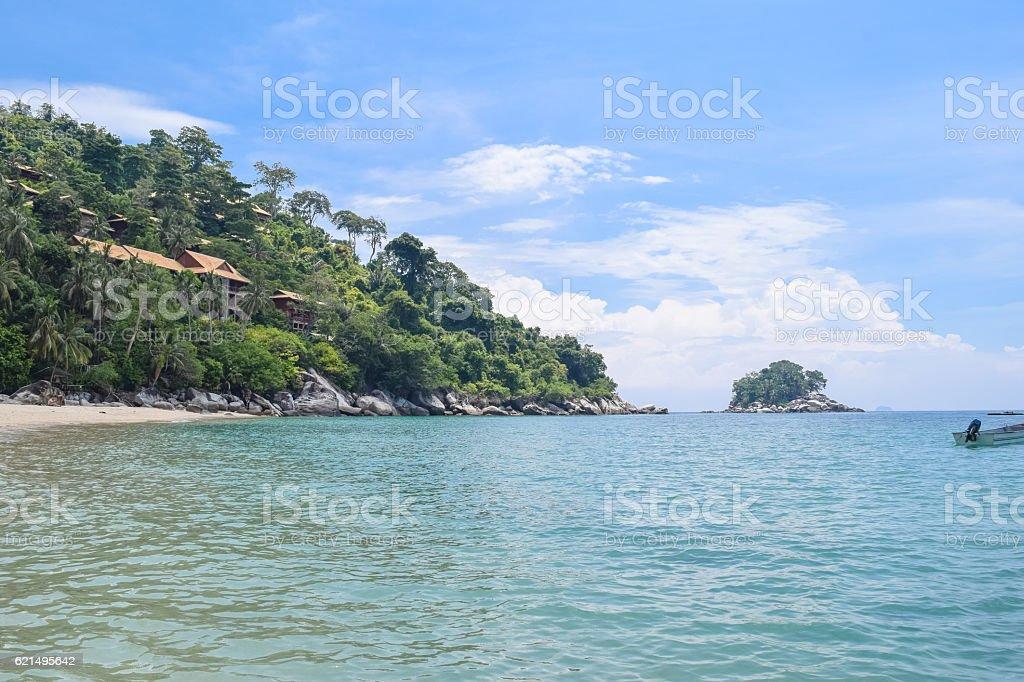 Tioman island beautiful ocean shore under the blue sky foto stock royalty-free