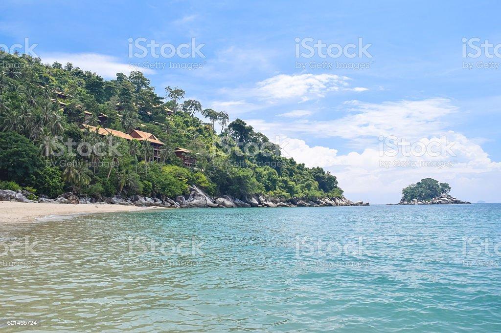 Tioman island beautiful ocean shore under the blue sky photo libre de droits