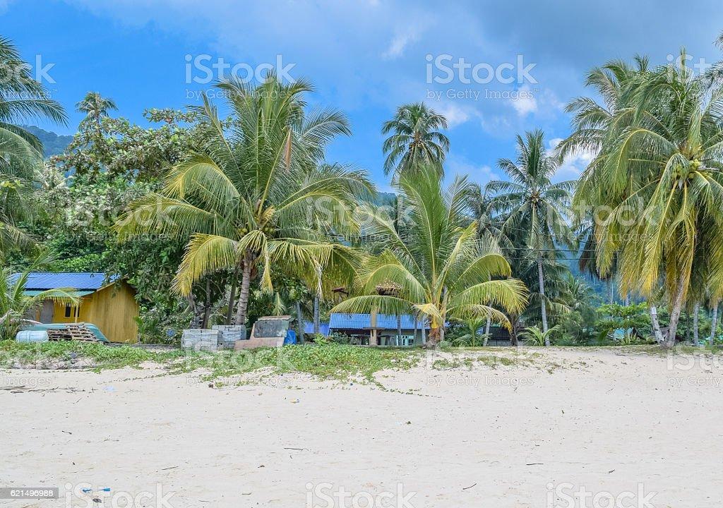 Tioman island Juara beautiful beach under the blue sky photo libre de droits