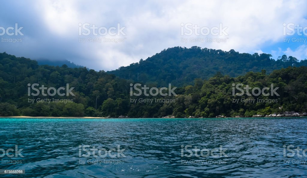 Tioman island tropical island in Malaysia. Tropical paradise beach royalty-free stock photo