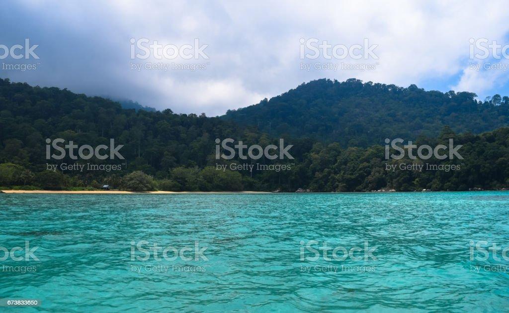 Île tropicale l'île Tioman en Malaisie. Plage de paradis tropical photo libre de droits