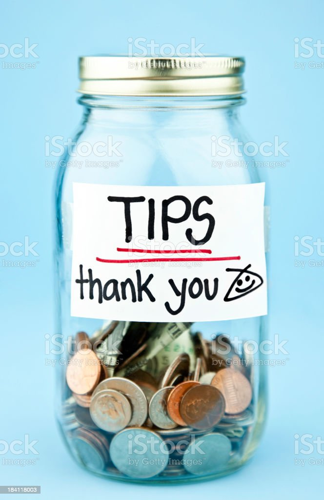 Tip Jar royalty-free stock photo