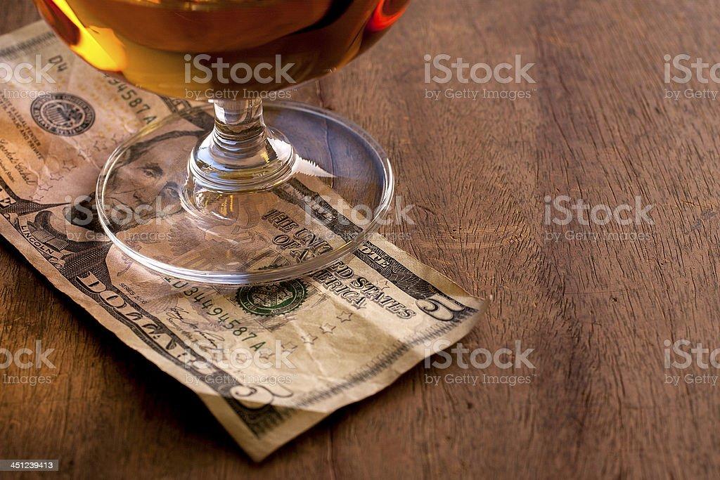Tip Money stock photo