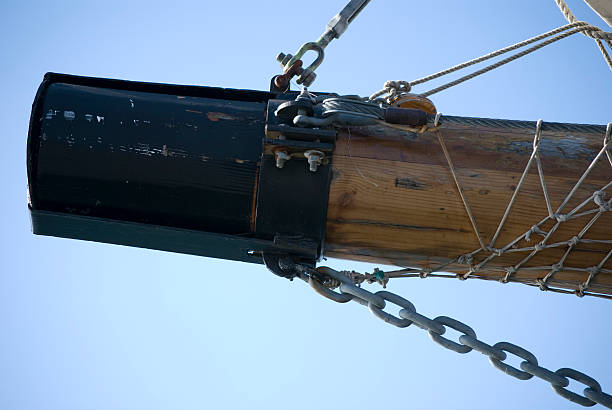 Tip of a tall ships bowspirit stock photo