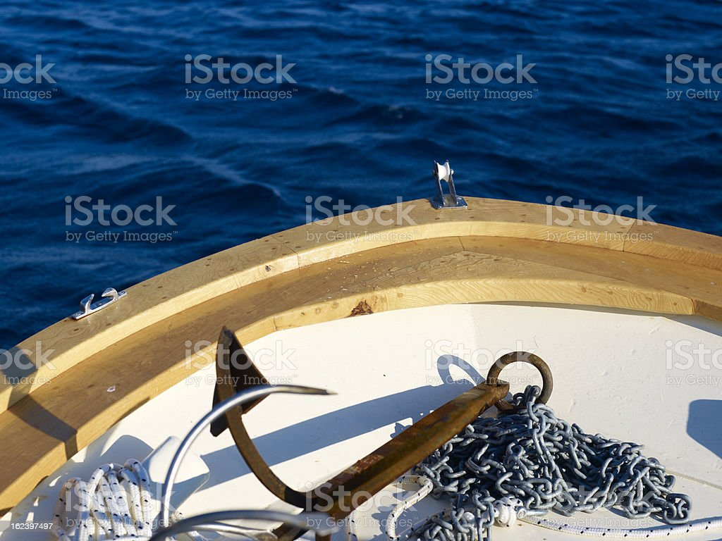 Tip of the boat royalty-free stock photo