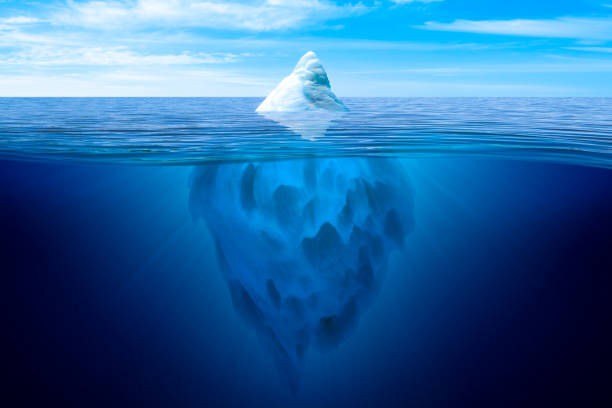 tip of the iceberg. - iceberg stock photos and pictures