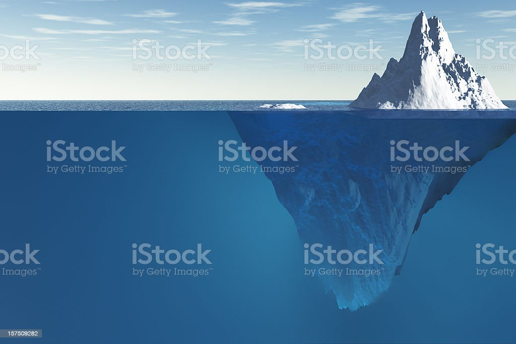 Tip of the iceberg  At The Edge Of Stock Photo